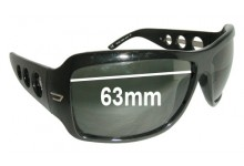 Diesel DS 0062 Replacement Sunglass Lenses - 63mm wide