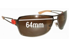 Diesel Unknown Replacement Sunglass Lenses - 64mm wide