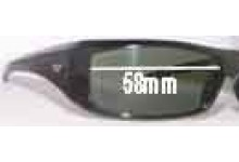 Diesel Yagi D28 Replacement Sunglass Lenses - 58mm wide