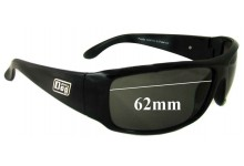 Dirty Dog Puddle Replacement Sunglass Lenses - 62MM wide