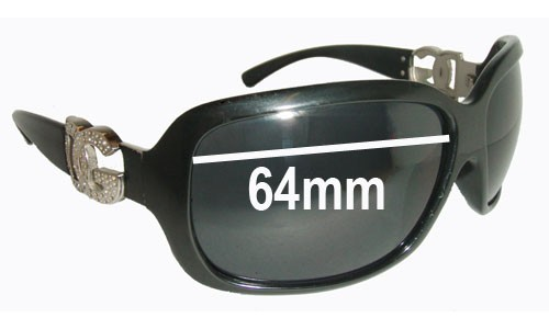 Dolce & Gabbana DG6029 Replacement Sunglass Lenses- 64mm Wide