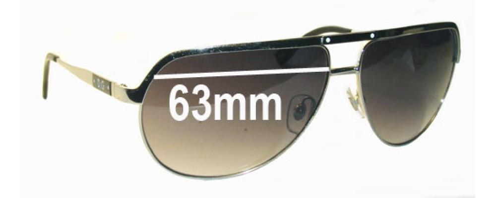 Dolce & Gabbana DD6065 Replacement Sunglass Lenses - 63mm wide