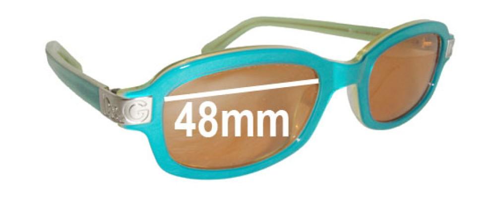Dolce & Gabbana DG2055 Replacement Sunglass Lenses - 48mm wide
