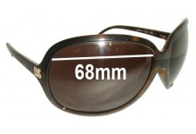 Dolce & Gabbana DG6009-B Replacement Sunglass Lenses - 68mm wide