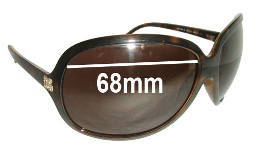 Sunglass Fix Replacement Lenses for Dolce & Gabbana DG6009-B - 68mm wide