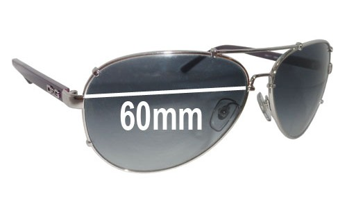 Dolce & Gabbana DG6047 and DD 6047 Replacement Sunglass Lenses - 60mm wide
