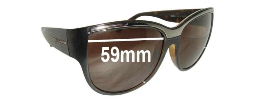 Dolce & Gabbana DG6054 Replacement Sunglass Lenses - 59mm wide