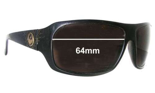 Dragon Brigade Replacement Sunglass Lenses - 64mm wide