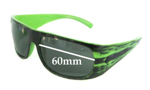 Electric G Six Replacement Sunglass Lenses - 60mm Wide