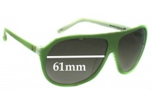 Sunglass Fix New Replacement Lenses for Electric Hoodlum - 61mm Wide