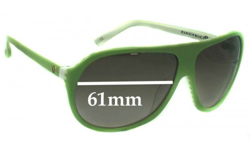 Electric HOODLUM Replacement Sunglass Lenses - 61mm Wide