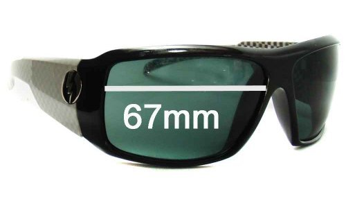 Electric Kyle Busch KB1 Replacement Sunglass Lenses - 67mm Wide