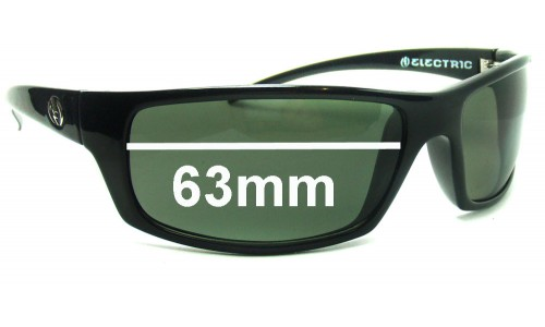 Newer - 2011 and greater - Electric Technician Replacement Sunglass Lenses - 63mm Wide