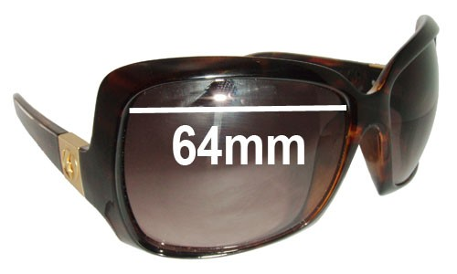 Electric Velveteen Replacement Sunglass Lenses - 64MM wide