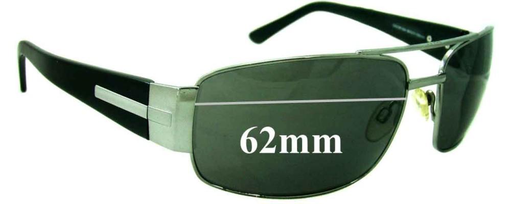 Esprit ET17667 Replacement Sunglass Lenses 62mm Wide