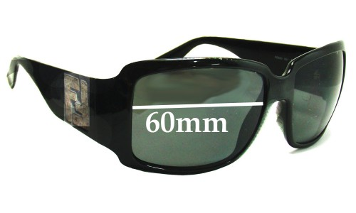 Fendi FS498 Replacement Sunglass Lenses - 60mm wide