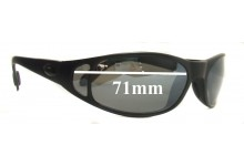 881273fe52 Sunglass Fix Replacement Lenses for Flying Fisherman Rio - 71mm Wide CUSTOM  INSTALL ONLY