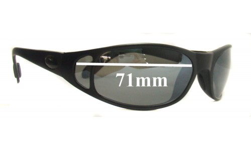 Flying Fisherman Rio Replacement Sunglass Lenses - 71mm Wide CUSTOM INSTALL ONLY
