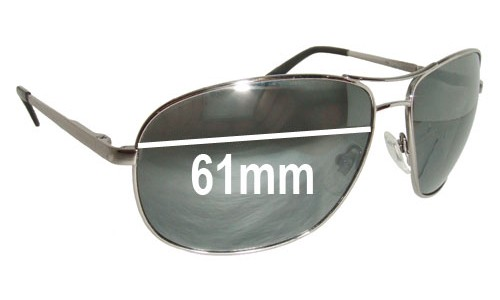 Fossil Sahara New Sunglass Lenses - 61mm wide