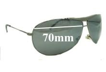 Giorgio Armani GA 134/S Replacement Sunglass Lenses - 70mm wide