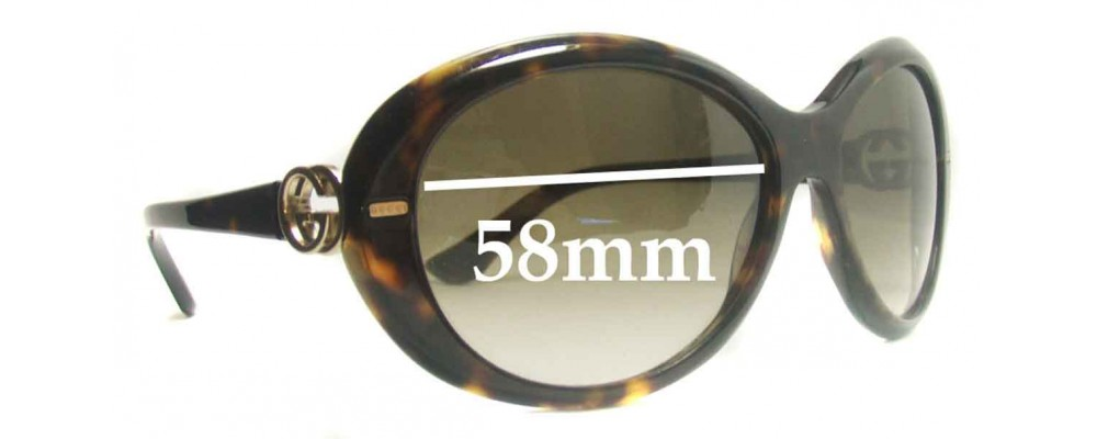 Gucci GG2988/S Replacement Sunglass Lenses - 58mm Wide