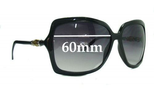 Gucci Bamboo Replacement Sunglass Lenses - 60mm wide