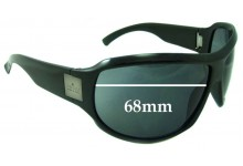 Gucci unknown Replacement Sunglass Lenses - 68mm wide