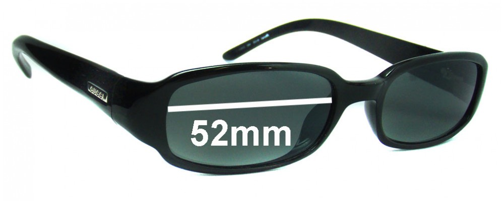 Gucci GG1439/S by Optyl Replacement Sunglass Lenses - 52mm wide