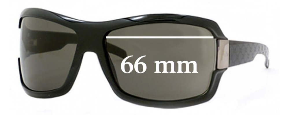 Gucci GG1546 Replacement Sunglass Lenses - 66mm wide