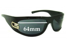 Gucci GG1518/S Replacement Sunglass Lenses - 64mm wide