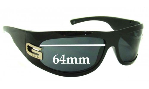Sunglass Fix Replacement Lenses for Gucci GG1518/S - 64mm wide