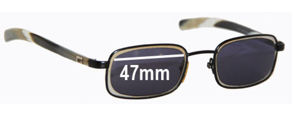 Gucci GG1615/S Replacement Sunglass Lenses - 47mm wide