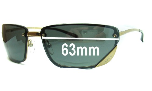 Gucci GG1691 Replacement Sunglass Lenses - 63mm wide