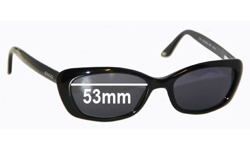 Gucci GG2415S Replacement Sunglass Lenses - 53mm wide