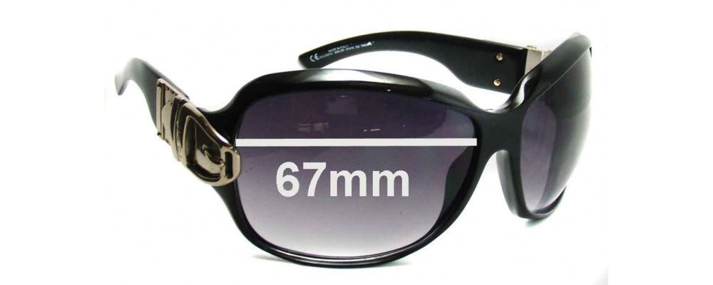 Gucci GG2591 Replacement Sunglass Lenses - 67mm wide