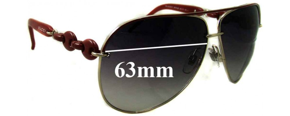 6f178d9d803c1 Gucci GG4225 S Replacement Lenses - 63mm wide