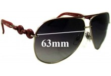 Gucci GG4225/S Replacement Sunglass Lenses - 63mm wide