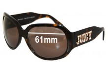 Juicy Couture Juicy American Princess Replacement Sunglass Lenses - 61mm wide