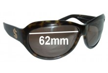 Juicy Couture Lady Lucks Replacement Sunglass Lenses - 62mm wide