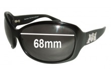 Juicy Couture Royal Replacement Sunglass Lenses - 68mm wide