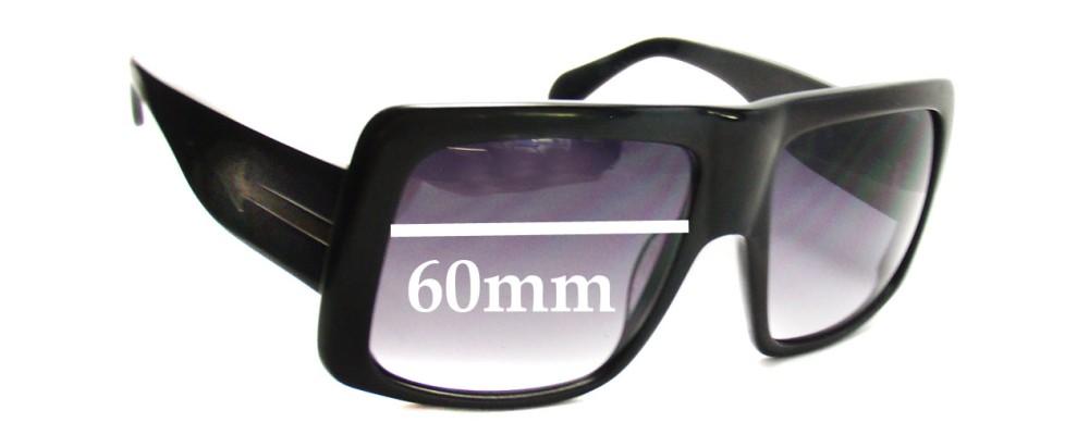 Karen Walker Hector New Sunglass Lenses - 60mm Wide