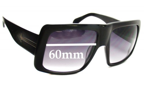 Karen Walker Hector Replacement Sunglass Lenses - 60mm Wide
