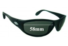 Killer Loop KL4105 The Groove Replacement Sunglass Lenses - 58mm wide