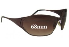 Lacoste Replacement Sunglass Lenses 68mm Wide - CAN NOT FIT