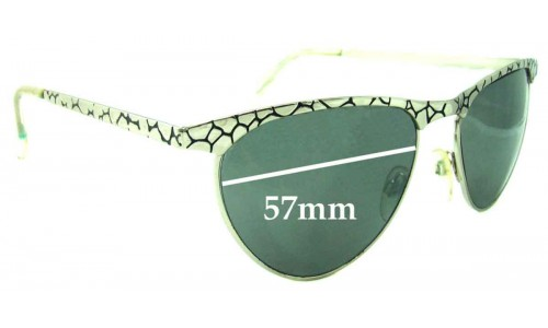 Le Specs Crater Cats Replacement Sunglass Lenses - 57mm wide
