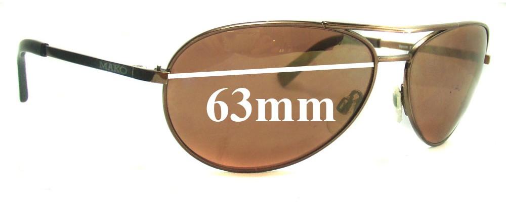 7744be3fb9 Sunglass Fix Replacement Lenses for Mako Venom 9489 - 63mm Wide