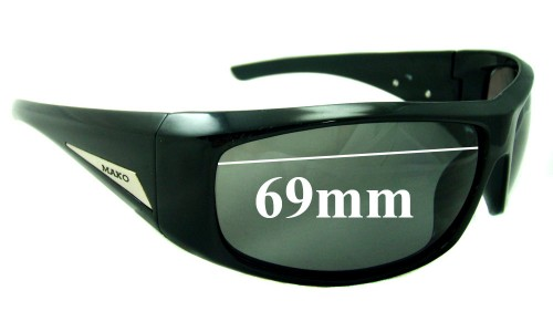 Mako Manta 9568 Replacement Sunglass Lenses - 69mm Wide