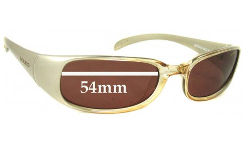 Mako Mermaid 9430 Replacement Sunglass Lenses - 54mm Wide