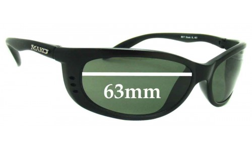 Mako Sleek XL 9517 Replacement Sunglass Lenses - 63mm Wide