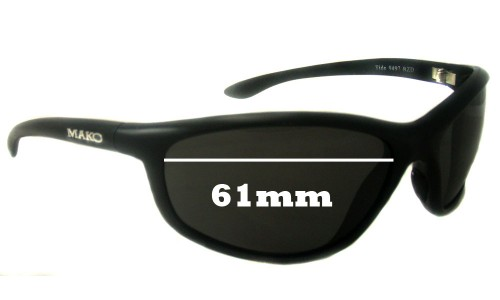 Mako Tide 9497 New Sunglass Lenses - 61mm Wide